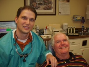 Dr. Jonathan Huffman and patient