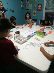 Being creative during author night event at New Hope Presbyterian Church.