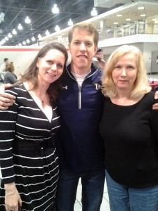 Enjoying family day recently with Brad Keselowski at Penske Racing.