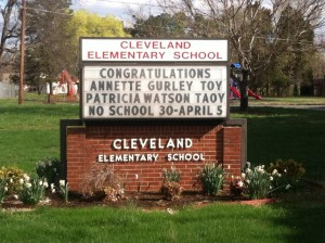 Cleveland Elementary School honoring the best of the best.