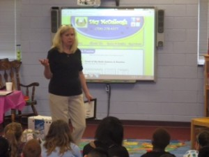 Having a great day with students at Cool Springs Elementary School.