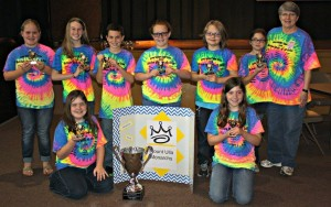 Mt Ulla EBOB team after winning first place on the county level. Mrs. Sloop is on the right.