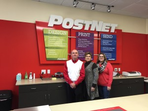 Jennings, Jeanette and Jessica are excited about helping customers at their new Postnet business in Winston-Salem.