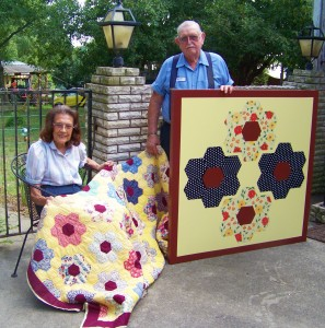 Sharing a bit of history through quilts and barn quilts.