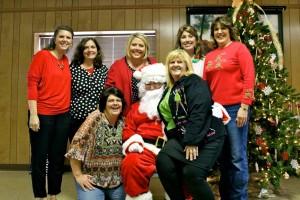 Salem Lutheran Preschool teachers enjoying a Christmas moment.