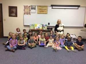 A photo moment with the children at Salem Lutheran Preschool.